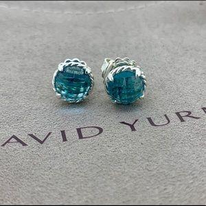 David Yurman Chatelaine Earrings with Blue Topaz